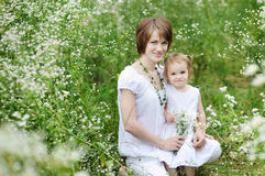 Little toddler girl and her mother Stock Photography