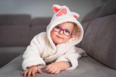 Little toddler girl portrait Royalty Free Stock Photos