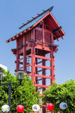 The Little Tokyo Watchtower in Los Angeles Stock Photography