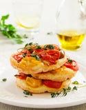 Little Tomato Tart. Royalty Free Stock Photography