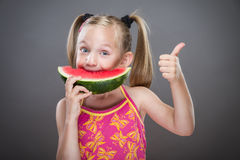 Little toothless girl Royalty Free Stock Images