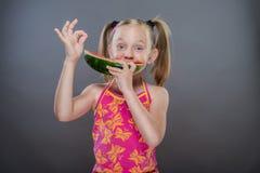 Little toothless girl Stock Photos