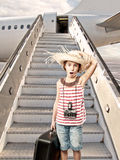 Little tourist boarding Stock Photos