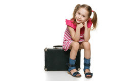 Little tourist. Stock Images