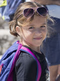 Little tourist girl Royalty Free Stock Photo