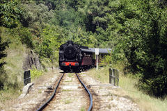 Little tourist steam train from Anduze Stock Photos