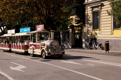 The Little Tourist Train in Riva Del Garda Italy Royalty Free Stock Photography