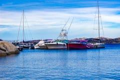Little touristic harbor royalty free stock photos