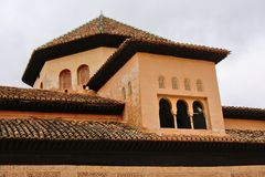 Little tower, architecture Detail of Court of the Lions, NAsrid palace, Alhambra Stock Images