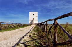 Little tower in Margherita of Savoy. That take you to the beach Royalty Free Stock Photos