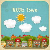 Little Town Color Houses Stock Image