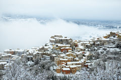 A little town covered by snow Royalty Free Stock Photography