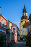 The little town of Faaborg Stock Image