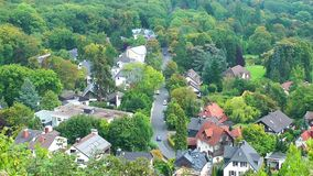 Little Town in Forest Time lapse. Video. The Place is in Germany stock video footage