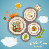 Little Town Infographics Royalty Free Stock Images