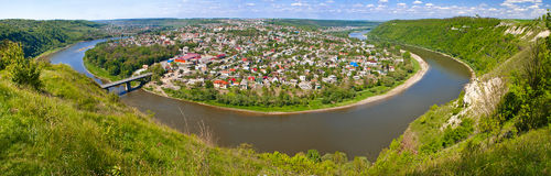 A little town located on peninsula of the Dniester River Royalty Free Stock Images