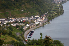 Little town at the Mosel river Royalty Free Stock Photos