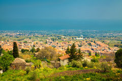 Little town near Etna Stock Photo