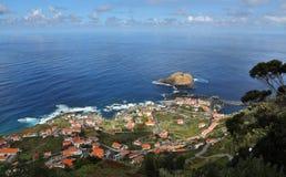 Little town Porto Moniz at Madeira Royalty Free Stock Image