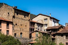 The little town of Potes in Cantabria, Spain royalty free stock photo