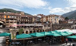 The little town of Potes in Cantabria, Spain royalty free stock images