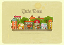 Little Town Retro Background Royalty Free Stock Photos