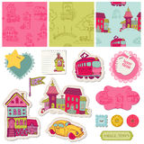 Little Town Scrap Royalty Free Stock Image