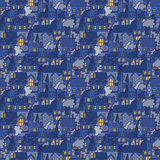 Little town seamless vector pattern in doodle style. Tiny city night background with cartoon houses in the street Royalty Free Stock Photography