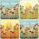 Little Town Seasons Set Stock Photos