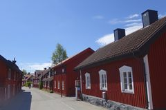 Sweden Trosa. Traditional Red House. Royalty Free Stock Photo