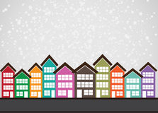 Little Town Townhouses  and home design Royalty Free Stock Photography