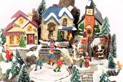 Little town winter scene Stock Photo