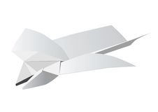 Little toy airplane from a paper. Royalty Free Stock Photography