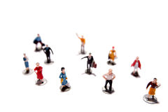 Little Toy Figures Royalty Free Stock Photos
