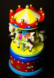 Little toy carousel horses merry go round stock photos