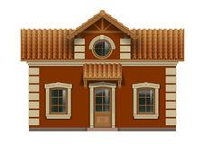 Little toy house. For dolls. Facade in vector graphics Stock Photography