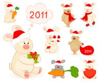 Little toy rabbit with gifts Stock Images