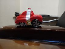 Toy red car stock photos