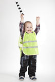 Little traffic warden Stock Photography