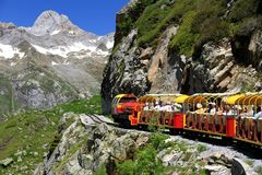 Little train of Artouste in the Pyrenees. Stock Image
