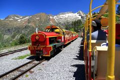 Little train of Artouste in the Pyrenees. Stock Images