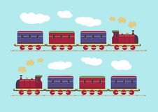 Little train pattern Royalty Free Stock Photography