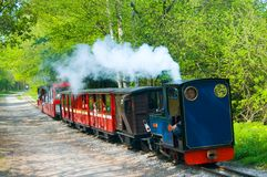 Little train at rudyard. The train by the lake Stock Images