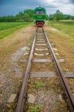 Little train in summer nature Stock Photo