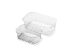 Little Transparent Plastic Crate Royalty Free Stock Image