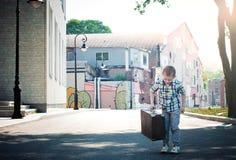 Little traveler Stock Images
