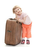 Little traveler preparing for a trip Royalty Free Stock Images