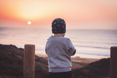 Little traveler stock image