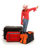 Little traveller girl Royalty Free Stock Images