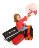 Little traveller girl Royalty Free Stock Photography